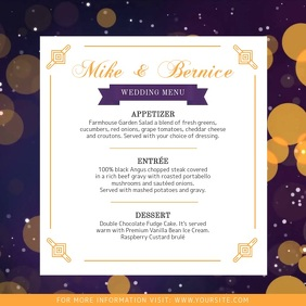 Funky Wedding Menu Square Video