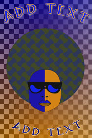 funky woman with afro hair and sunglases