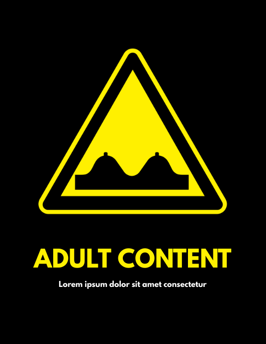 funny adult sign flyer template