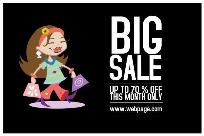 funny big sale landscape poster template