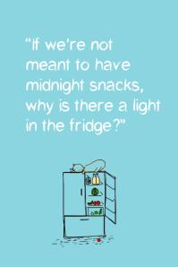 Funny fridge quote poster