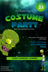 funny Halloween Costume Party Flyer Template