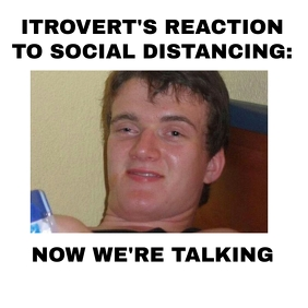 Funny meme for introverts social distancing Instagram Post template