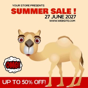 FUNNY SUMMER SALE ADS SOCIAL MEDIA TEMPLATE 徽标