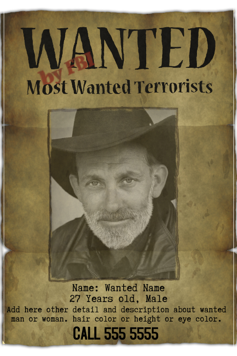 funny wanted poster flyer template