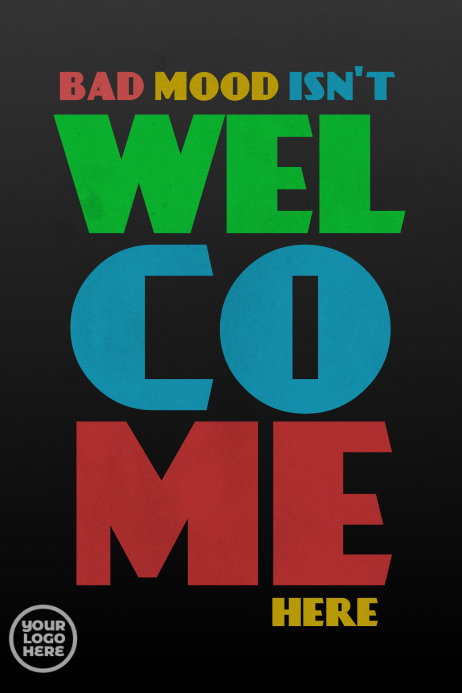 Funny Welcome Good Mood Poster