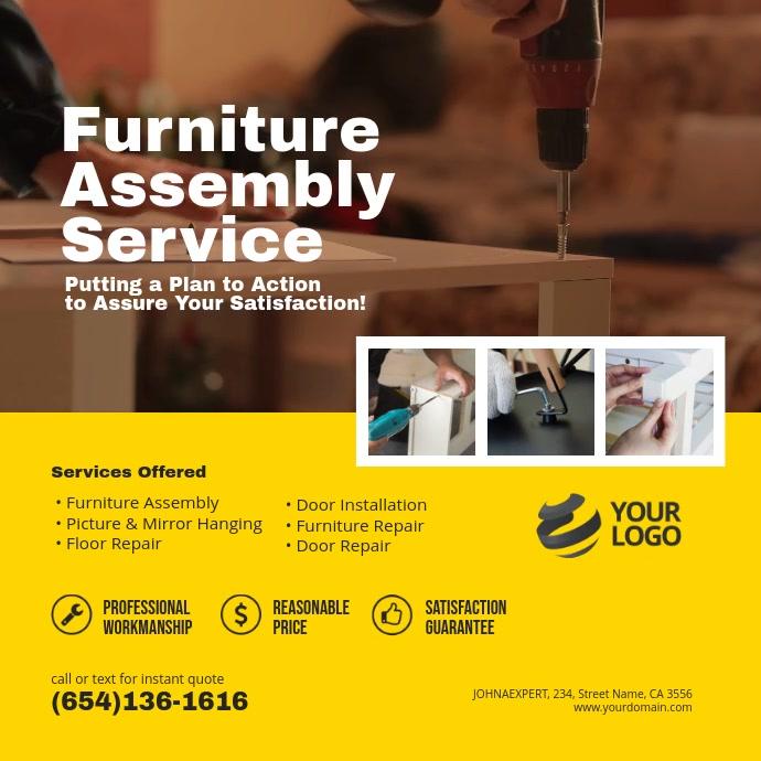 Furniture Assembly Service Instagram Post