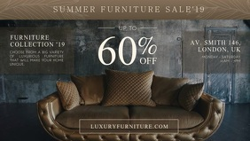 Furniture clearance Facebook-omslagvideo (16:9) template