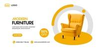 furniture Image partagée Facebook template