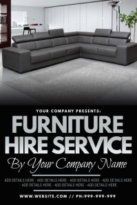 Furniture Hire Service Poster