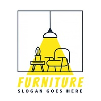 furniture lamp chair decor interior logo Логотип template