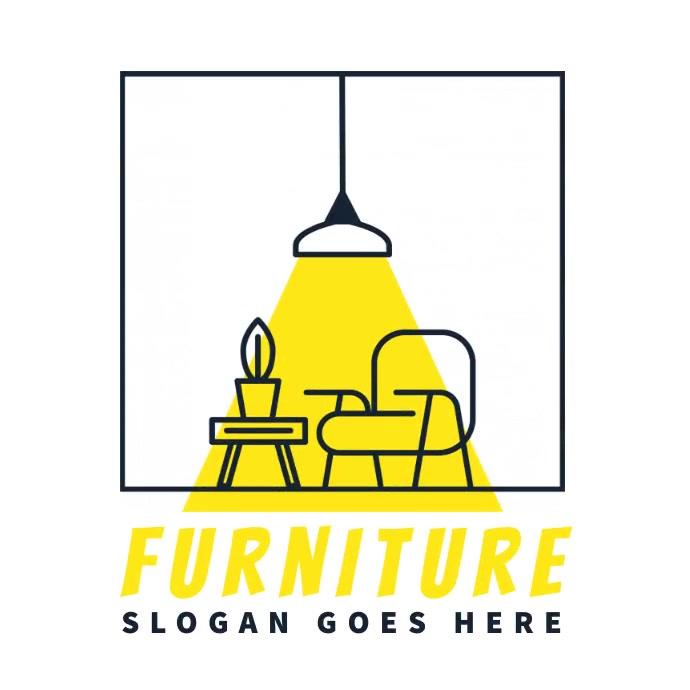 furniture lamp chair decor interior logo template
