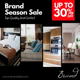 Furniture Products Sale Black Square Ad