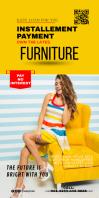 Furniture Pullup Banner Cartel enrollable de 3 × 6 pulg. template