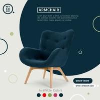 Furniture Sale Ad โพสต์บน Instagram template