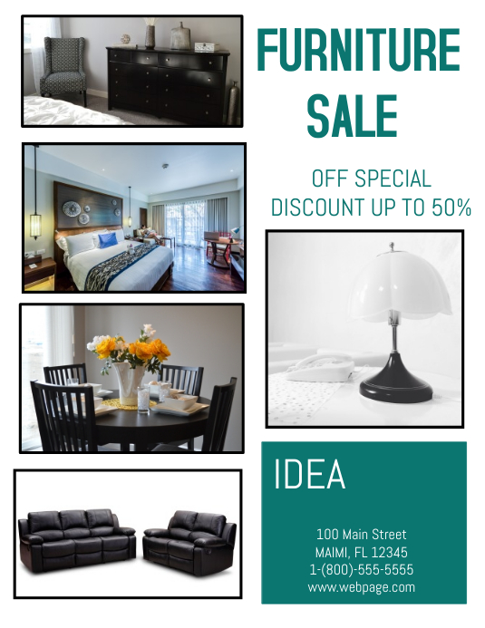 Furniture Sale Template Postermywall
