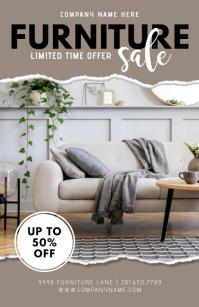 Furniture Sale Flyer Template Tabloid