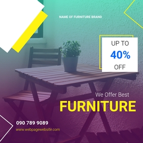FURNITURE SALE TEMPLATE Instagram Post