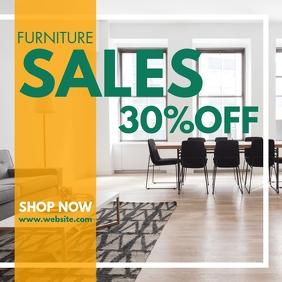 furniture sales 30% off design template adver Сообщение Instagram
