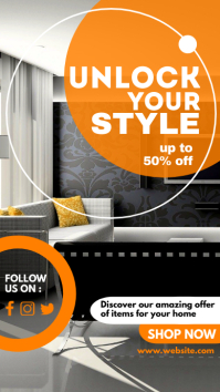 furniture sales advertisement whatsapp and in Instagram Story template