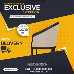 FURNITURE SHOP AD SOCIAL MEDIA TEMPLATE