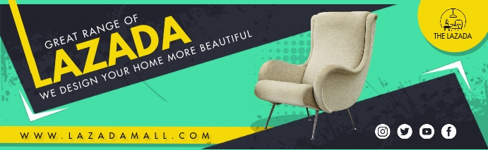 Furniture Store Linkedin Cover Photo template