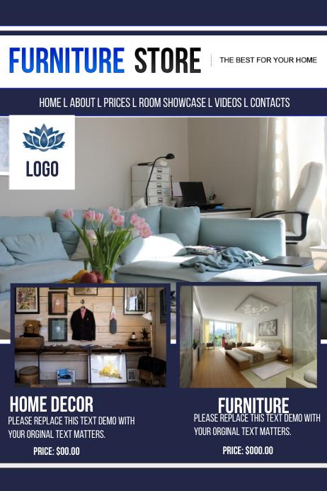 Furniture Store Website Templatd. Furniture Store Website Templatd template   PosterMyWall