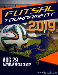 Templat Desain Dapat Dikustomisasi untuk Futsal | PosterMyWall