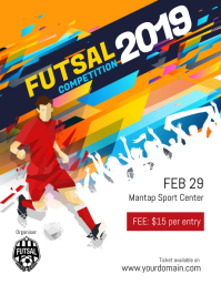 Futsal Football Soccer Tournament Competition Flyer Poster