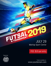 Futsal Football Tournament Flyer Poster