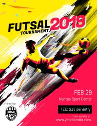 Futsal Soccer Football Flyer Template