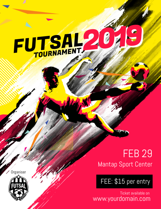 copy of futsal soccer football flyer template