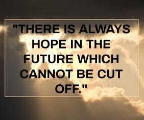 FUTURE AND HOPE QUOTE TEMPLATE Large Rectangle
