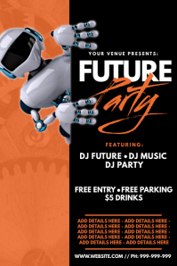 Future Party Poster template