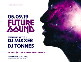 Future Sound Flyer Рекламная листовка (US Letter) template