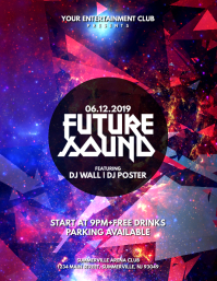 Future Sound Flyer Volante (Carta US) template