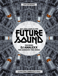 Future Sound Flyer Folheto (US Letter) template