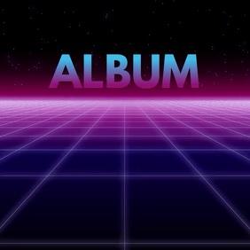 Futuristic album cover neon video