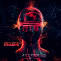 Futuristic Cyclope Abstract CD Cover Music template
