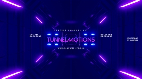 Futuristic Gamer Youtube Channel Art Banner template