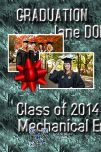 Futuristic graduation poster