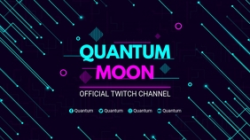 Futuristic Neon Spacy Twitch Banner template