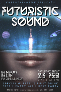 Futuristic Sound Flyer Template