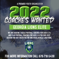 GA LIONS 2020 COACHES WANTED FLYER