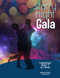 Gala Charity Dinner Dancing Event Flyer