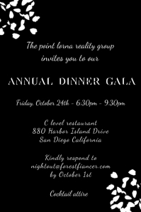 Gala Night Dinner Party Poster Template