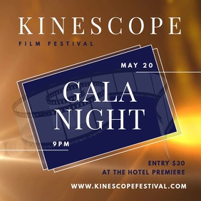 Gala Night Film Festival Square Video template