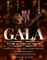 Gala Night Flyer Poster/Wandzeitung template