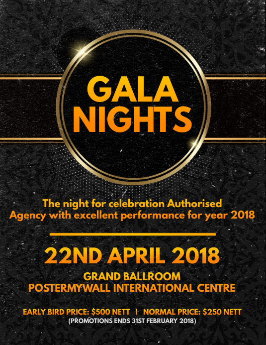 Gala Nights Flyer