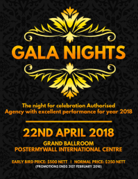 Gala Nights Poster